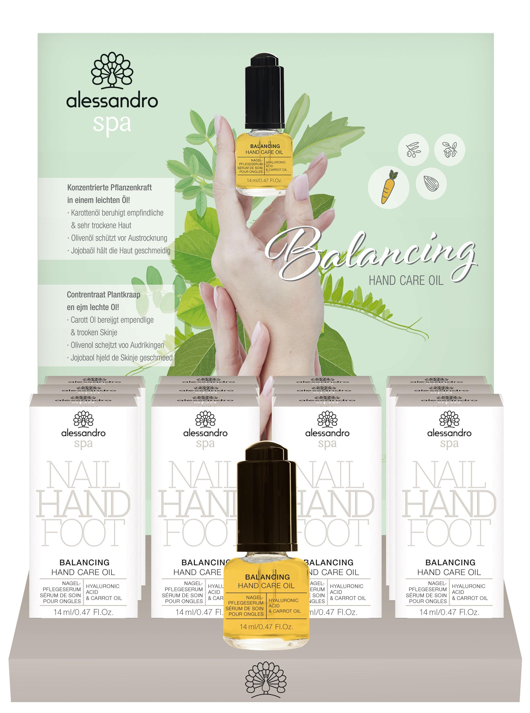 Image of Alessandro International Disp Balancing Hand Care Oil (12 Stück)